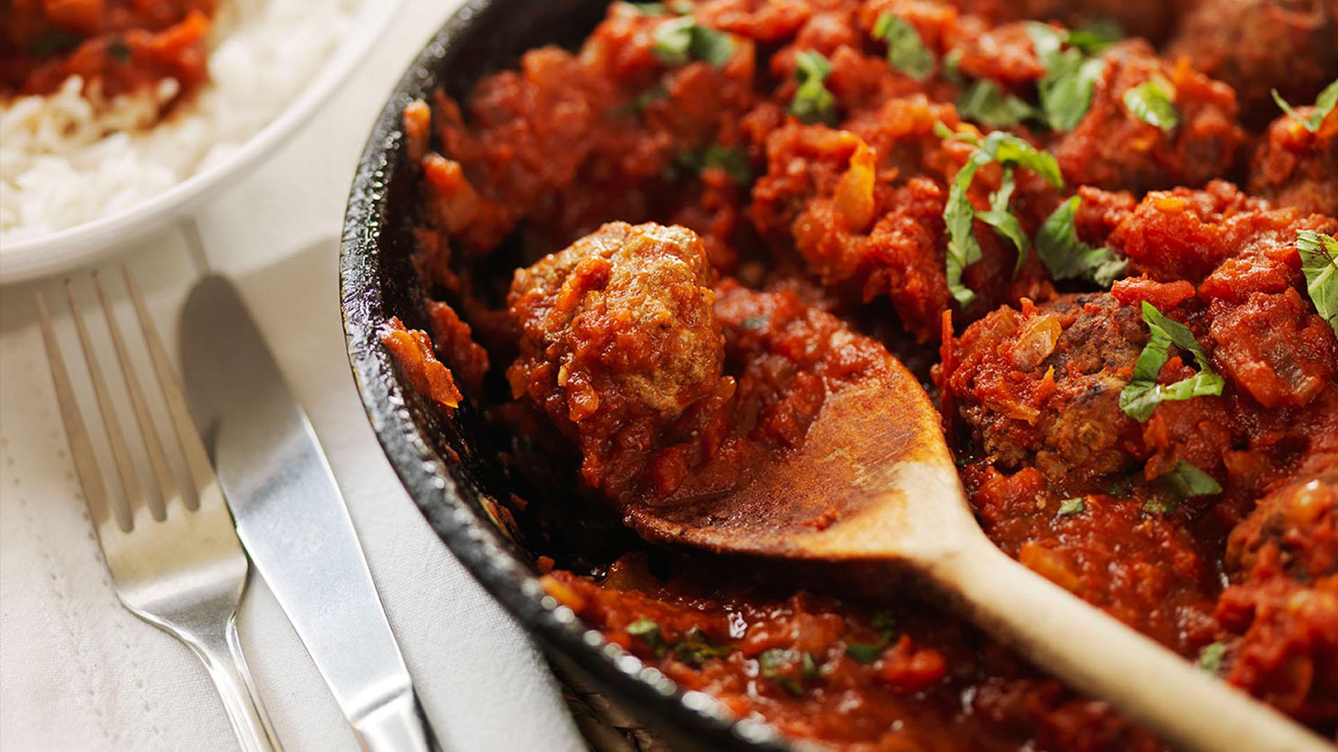 Gluten Free Meatballs In Tomato And Basil Sauce Gluten